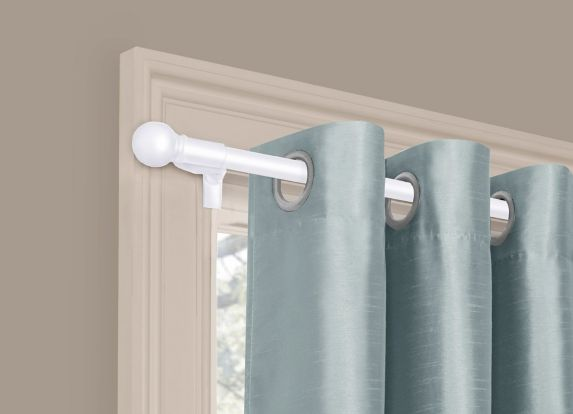 Smart Rods Curtain Rod, White Product image
