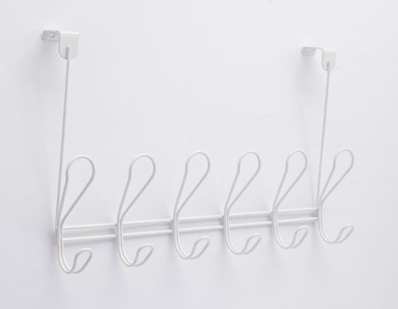 Peerless Dolen 6-Hook Over-the-Door Rail, White Product image