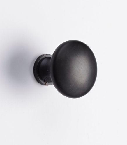 Peerless Round Knob, Black, 1-1/4-in, 2-pk Product image