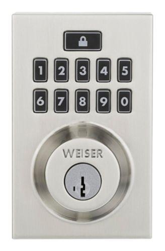 Weiser SmartCode 10 Electronic Deadbolt, Satin Nickel Product image