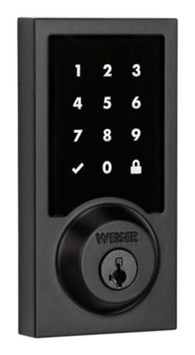 Serrure électronique à écran tactile Weiser Premis, noir de fer Image de l'article