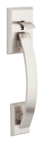 Weiser Tavaris Bottom Handle Set with Vedani Lever, Satin Nickel Product image