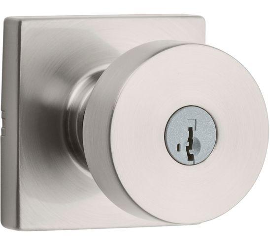 Weiser Cambie Keyed Entry Knob Lockset, Satin Nickel