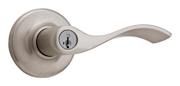 Weiser Belmont Keyed Entry Lever Lockset, Satin Nickel Product image