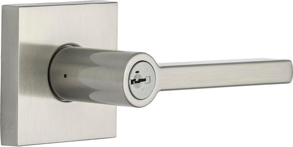 Weiser Halifax Keyed Entry Lever Lockset, Satin Nickel Product image