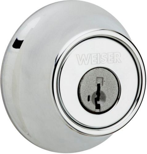 Weiser Single Cylinder Deadbolt, Satin Chrome Product image