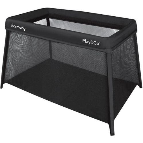 Harmony Play & Go Aluminum Portable Playard, Black Product image