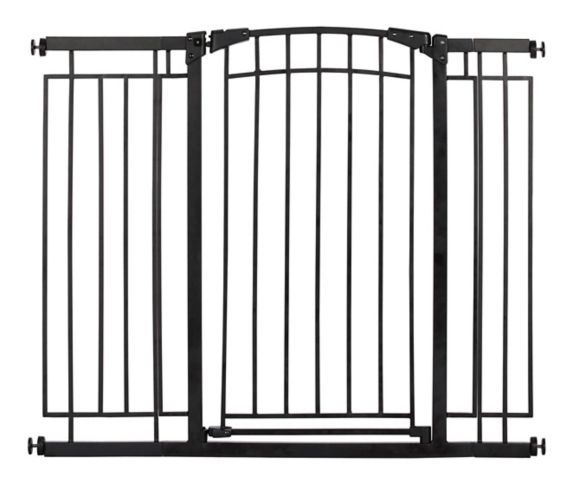 Evenflo Tall Walk-Thru Safety Gate, Metal, Black Product image