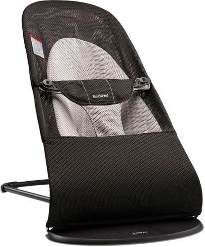 Siège berç. BabyBjorn BouncerBalance, coton doux, noir/gris Image de l'article