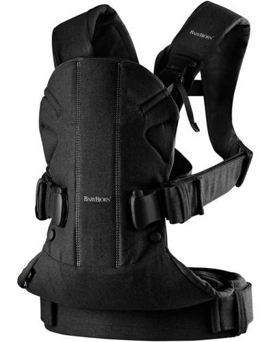 BabyBjorn Baby Carrier One, Cotton, Black Product image