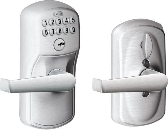 Schlage Electronic Keypad Lever, Plymouth/Elan Lever, Satin Chrome Product image