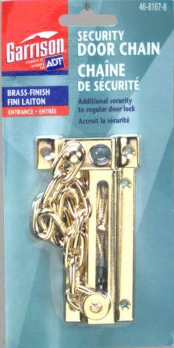 Chain Door Guard, Polished Brass