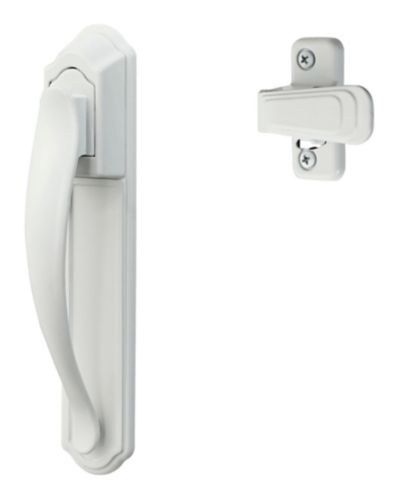 Deluxe Handle Set with Back Plate, White Product image