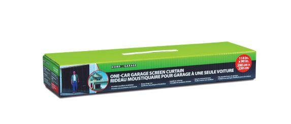 One Car Garage Screen Curtain