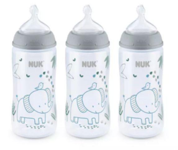 NUK Perfect Fit™ Anti-Colic Bottle, 10-oz, 3-pk Product image