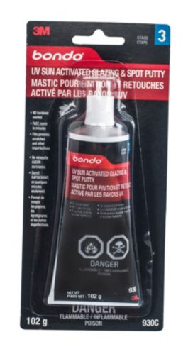 Bondo UV Sun Activated Glazing and Spot Putty, 3.5-oz Product image