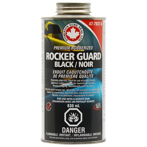 Rubberized Rockerguard Undercoating, 830ml Shutz Black