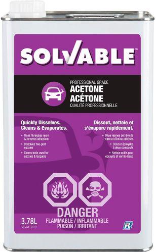 Acétone soluble, 3,78L Image de l'article