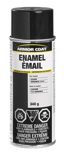 Armor Coat Enamel Spray Paint, Gloss Black, 340-g Product image