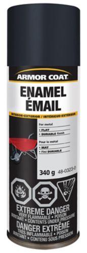 Armor Coat Enamel Spray Paint, Flat, 340-g Product image