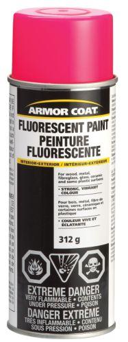 Armor Coat Fluorescent Spray Paint, Aerosol