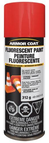 Peinture fluorescente Armor Coat, orange feu, 312 g