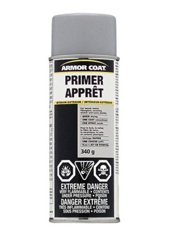 Armor Coat Rust Spray Paint, Primer, Grey, 340-g