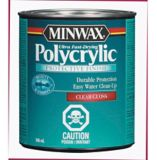 Vernis protecteur à base d'eau Minwax Polycrylic, 946 mL | Minwaxnull