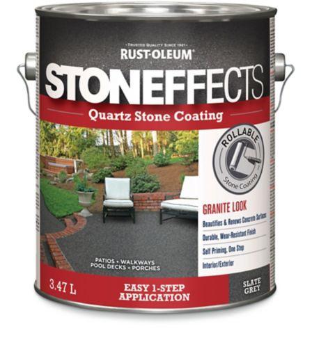 Revêtement de pierre en quartz Stoneffects, gris ardoise, 3,47 L Image de l'article