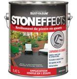 Revêtement de pierre en quartz Stoneffects, gris ardoise, 3,47 L | Stoneffectsnull