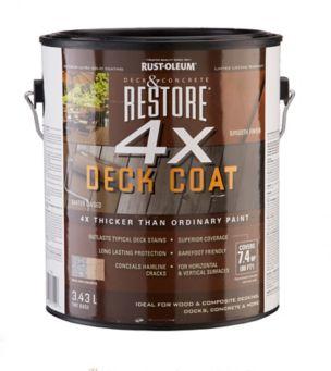 Rust Oleum Restore 4x Deck Resurfacer Tint Base Canadian Tire