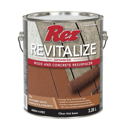 Rez Revitalize Advanced Wood & Concrete Resurfacer, Clear Tint Base, 3.28-L Product image