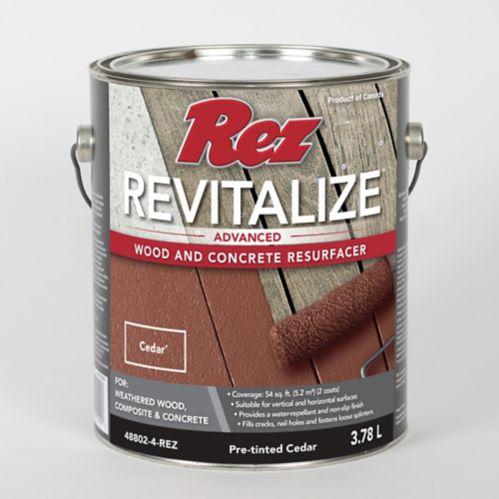 Rez Revitalize Advanced Wood & Concrete Resurfacer, Cedar, 3.78 L Product image