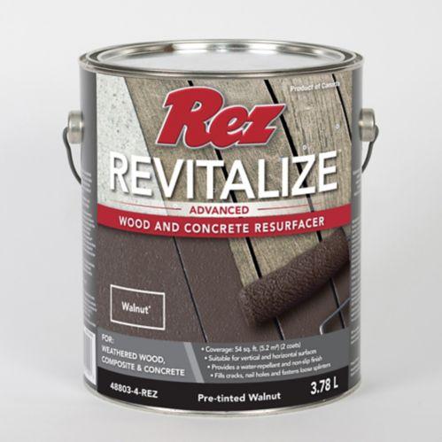 Resurfaceur pour bois et béton Rez Revitalize, noyer, 3,78 L Image de l'article