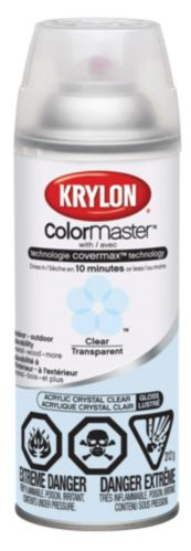 Peinture Krylon ColorMaster intérieur/extérieur, transparent lustré
