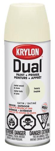 Peinture et apprêt Krylon, ivoire satiné Image de l'article