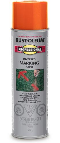Peinture de marquage rouge-orange Rust-Oleum Professionnel, 426 g Image de l'article
