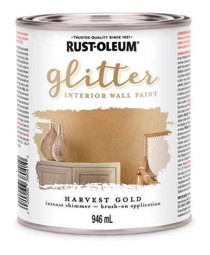 Rust-Oleum Glitter Interior Wall Paint, 946-mL