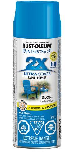 Peinture brillante polyvalente en aérosol très protectrice Rust-Oleum Painter's Touch 2X, 340g Image de l'article