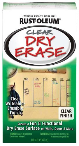 Rust-Oleum Dry Erase Paint, Clear, 887-mL Product image