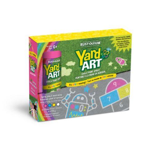 Craie en aérosol multicolore Yard Art, paq. 4 Image de l'article