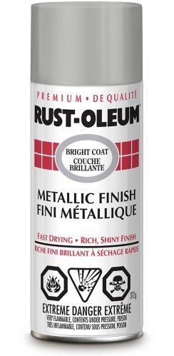 Peinture en aérosol au fini métallisé brillant Rust-oleum, chrome, 313 g Image de l'article