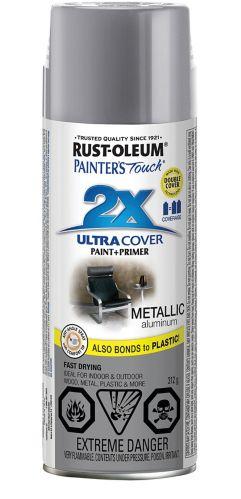 Rust-Oleum Painter's Touch 2X Ultra Cover Multi-Purpose Spray Paint, Metallic Aluminum, 312-g Product image