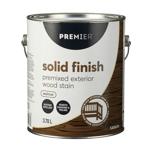 Premier Exterior Solid Stain, Premixed Walnut, Gallon Product image