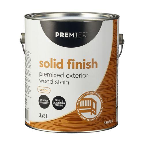Premier Solid Exterior Stain, Premixed Cedar, Gallon Product image