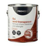 Teinture d'extérieur Premier, semi-transparente, prémélangée, séquoia, 1 gal | Premier Paintnull