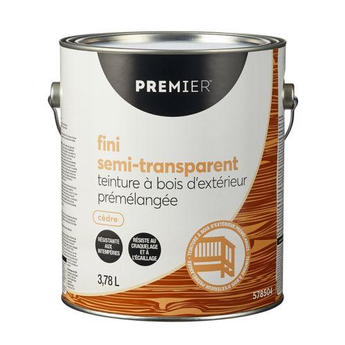 Teinture d'extérieur Premier, semi-transparente, prémélangée, cèdre, 1 gal