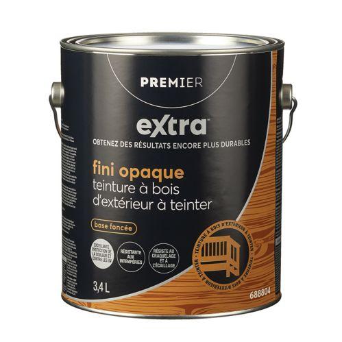 Teinture d'extérieur opaque Premier Active, base transparente, 1 gallon