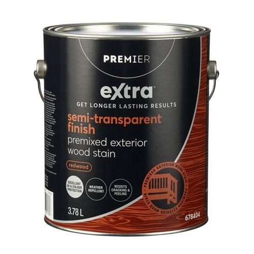 Premier Extra Semi-Transparent Exterior Stain, Redwood, 1-Gallon Product image