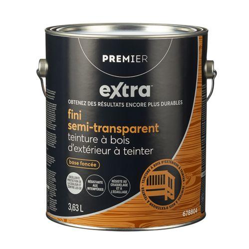 Teinture d'extérieur semi-transparente Premier Active, base à teinter, 1 gallon